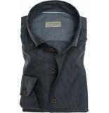John Miller Heren overhemd dobby schiller button-down tailored fit