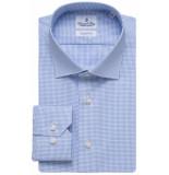 Emanuel Berg Heren overhemd fine twill widespread fijne ruit slim fit