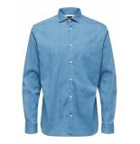 Selected Homme Overhemd denim licht cutaway regular fit