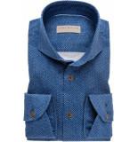 John Miller Heren overhemd donker cutaway tailored fit