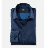 Olymp 1364 18 modern fit overhemd navy -