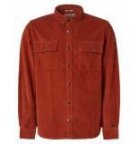 Noize Shirt, l/s, overshirt, big pockets brick