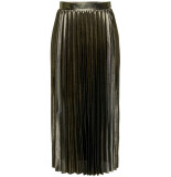 Only Onlhailey pleated skirt jrs gold colour