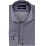 Sleeve7 Heren overhemd witte stippen print modern fit