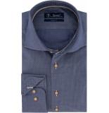 Sleeve7 Heren overhemd kleine bruine print modern fit