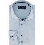 Sleeve7 Heren overhemd licht herringbone modern fit