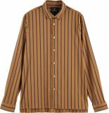 Scotch & Soda Regular fit satin striped shirt combo a