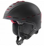 UVEX Skihelm legend pro black red mat-52 -