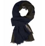 Profuomo Wollen sjaal navy blauw/grijs