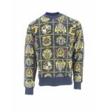 Versace Jeans Sweater met print zwart/goud