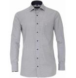 Casamoda Heren overhemd all-over print poplin kent comfort fit