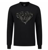 Elegante heren trui diamond zipper sweater -