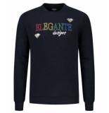 Elegante heren trui rainbow color sweater -