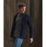 Superdry M4010114a corduroy overhemd shirt 11s navy -