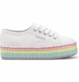 Superga Women 2790 cotw minilettering white multi-schoenmaat 37