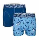 Zaccini 2-pack boxershorts delfts -