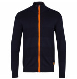 Kronstadt Jacob zip 50016 vest cardigan navy orange -