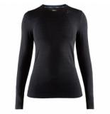 Craft Ondershirt women fuseknit comfort rn ls black-s