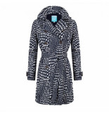 HappyRainyDays Regenjas trenchcoat myra graphic midnight blue white-xxl