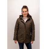 Geisha 08535a-12 jacket hood herringbone army