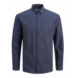 Jack & Jones 12180159 navy r slim fit overhemd -