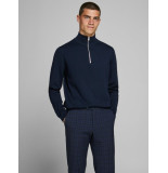 Jack & Jones 12180066 maritime blue trui met rits -