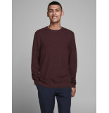 Jack & Jones 12180061 red mahony trui katoen -