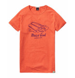 Scotch & Soda T-shirt mister dubble ice red rood