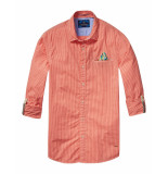 Scotch & Soda Overhemd checkered casual red rood