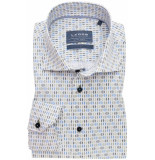 Ledûb Ledûb heren overhemd ml7 licht print twill widespread tailored fit
