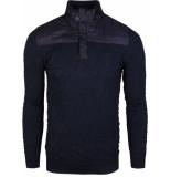 Gabbiano Pull with zipper navy