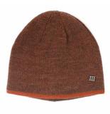 Tresanti Fine knitted beanie with colored border orange