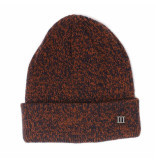 Tresanti | fine knit beanie with cuff and metallic 3 orange