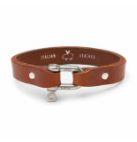 Pig & Hen L02-171000 armband sharp simon leather cognac | silver