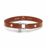 Pig & Hen L01-171000 armband vicious vik leather cognac | silver