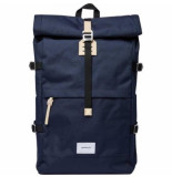 Sandqvist Rugzak bernt navy with natural leather