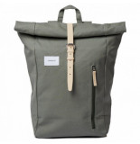 Sandqvist Rugzak dante dusty green with natural leather