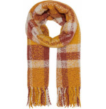 Only Onljanet weaved scarf cc golden yellow/fired