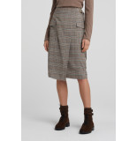 YAYA 11110-022 faux wrapped midi skirt with checks