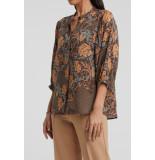 YAYA 1101188-021 lyocell shirt with 3/4 sleeves