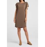 YAYA 180994-020 modal blend dress with ruffles sleeves