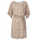 YAYA 1801253-020 belted dress with ruffles and animal print