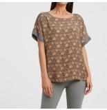 YAYA 1901336-021 round neck t-shirt with print