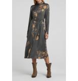 YAYA 1801267-021 maxi shirt dress with belt and print