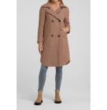 YAYA 161139-023 wool blend padded coat with fishbone pattern