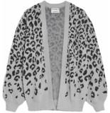 Catwalk Junkie Cardigan fuzzy leopard grey melange
