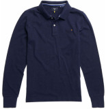 Superdry Longsleeve classic pique polo m. navy grit