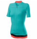 Castelli Fietsshirt women anima 3 jersey light turquoiseuoise bright pink-s