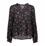 Geisha 03885-44 999 top aop flowers l/s black/old pink