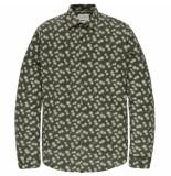 Cast Iron Csi207630 6219 long sleeve shirt print on structure dobby green